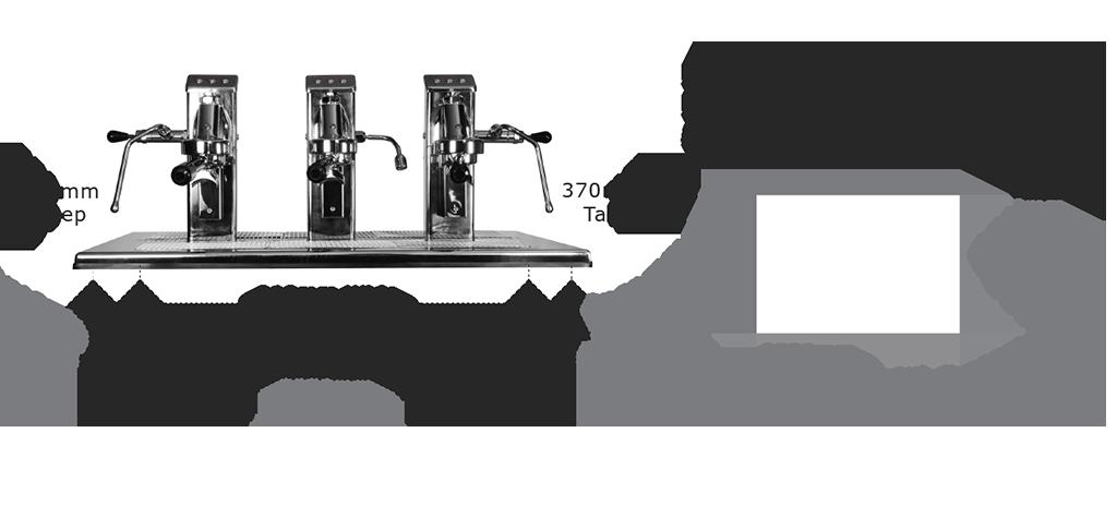 Commercial Espresso Coffee Machine espressoDECK 3 group head specs